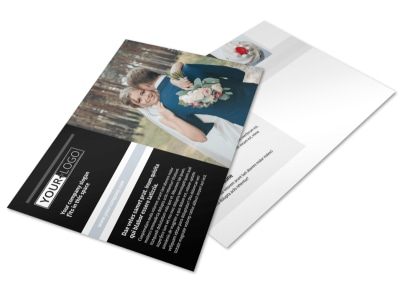 Wedding & Event Planning Postcard Template preview