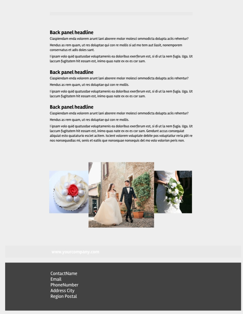 Wedding Planners Flyer Template Preview 3