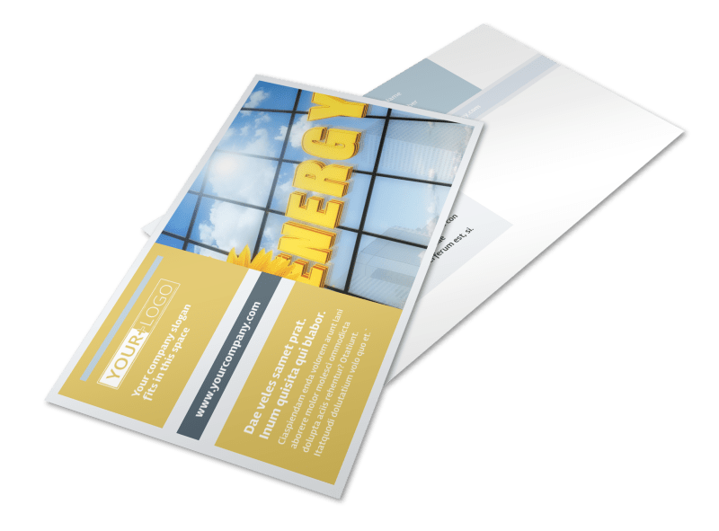Clean Energy Consultants Postcard Template Preview 1