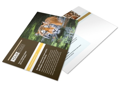 Zoo & Wild Animal Park Postcard Template preview