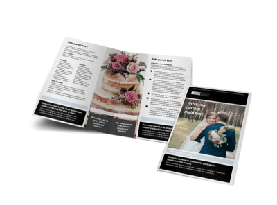 Wedding & Event Planning Bi-Fold Brochure Template preview