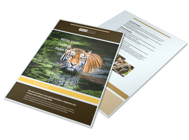 Zoo & Wild Animal Park Flyer Template Preview 4