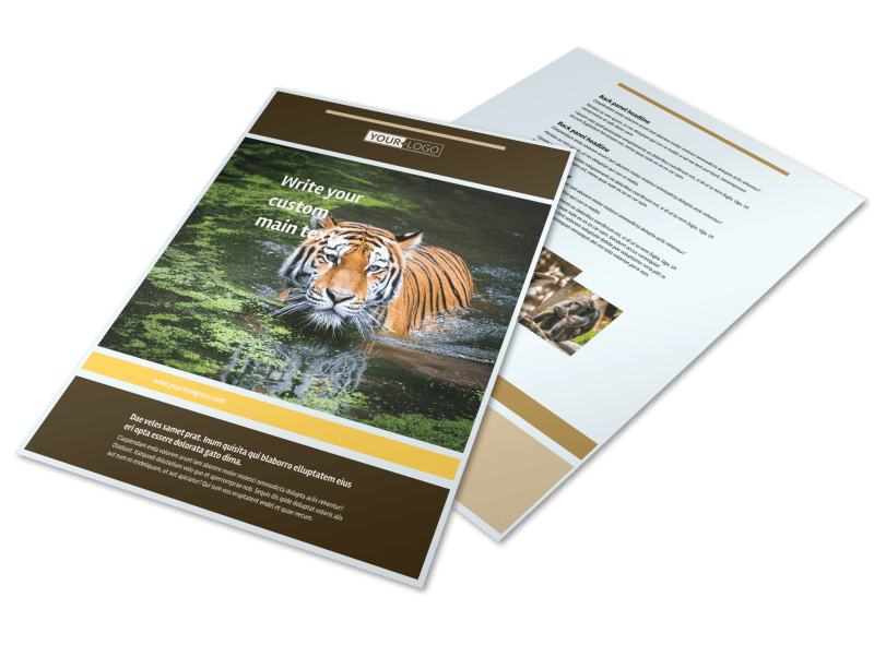 Zoo & Wild Animal Park Flyer Template Preview 1