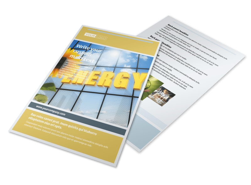 Clean Energy Consultants Flyer Template 3