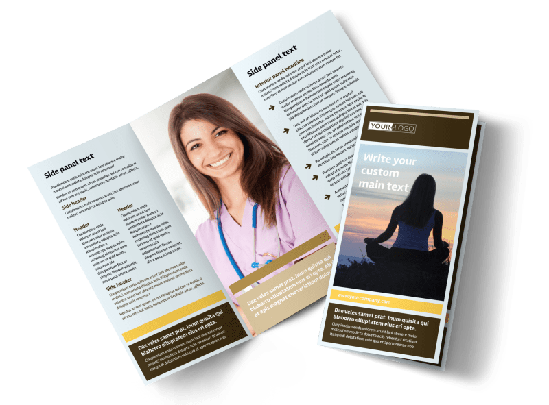 Womens Health Non Profit Brochure Template Preview 1