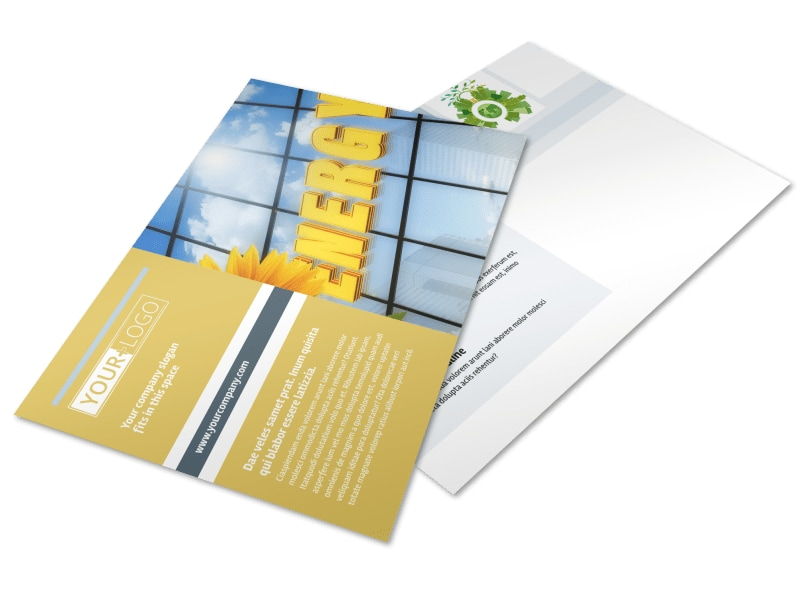 Clean Energy Consultants Postcard Template Preview 4