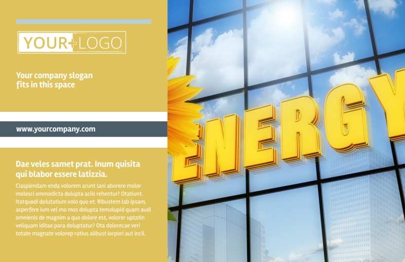 Clean Energy Consultants Postcard Template Preview 2