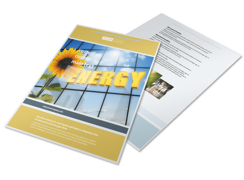 Clean Energy Consultants Flyer Template Preview 1