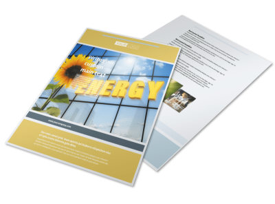 Clean Energy Consultants Flyer Template preview