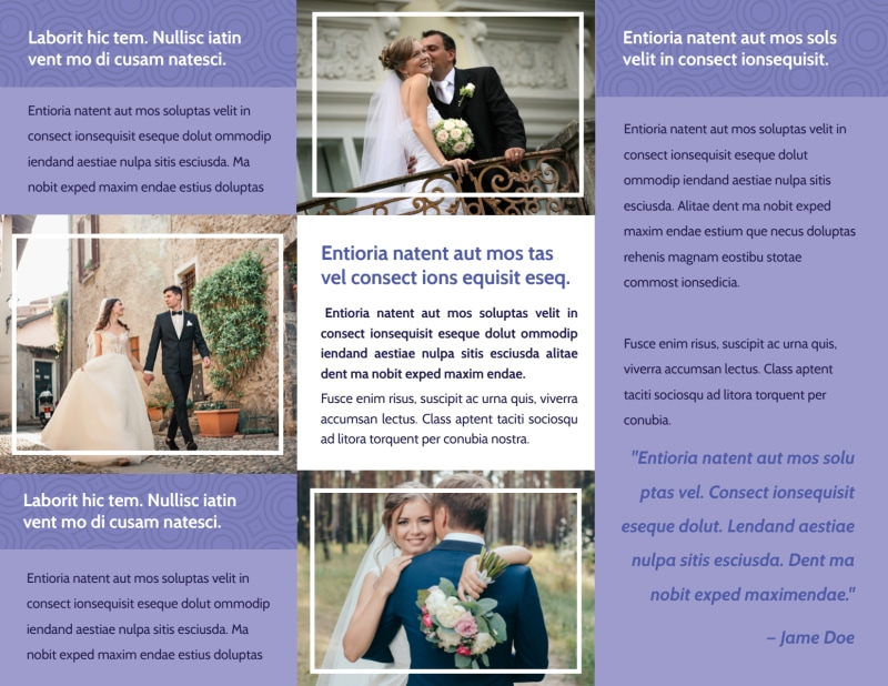 Wedding Planners Brochure Template Preview 3