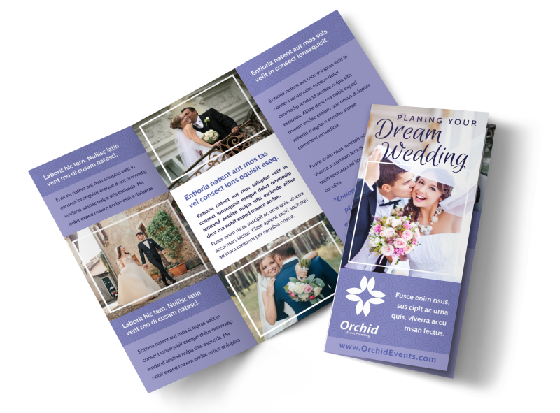 Wedding Planners Brochure Template Preview 1