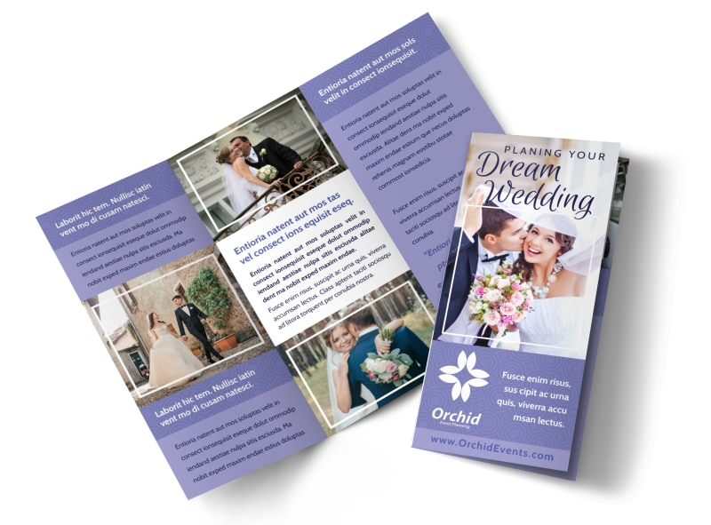 Wedding planners brochure template mycreativeshop for Planned giving brochures templates