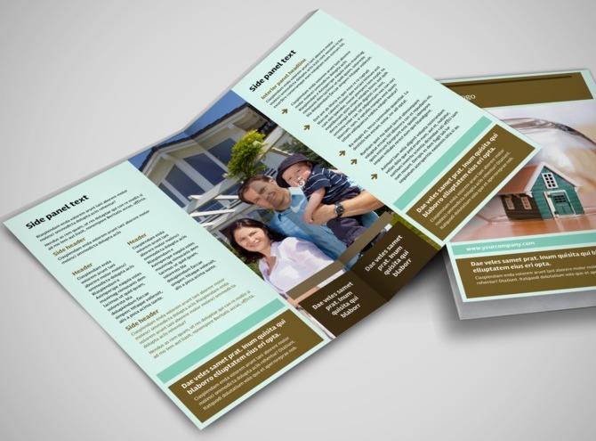 insurance brochure template - home insurance bi fold brochure template