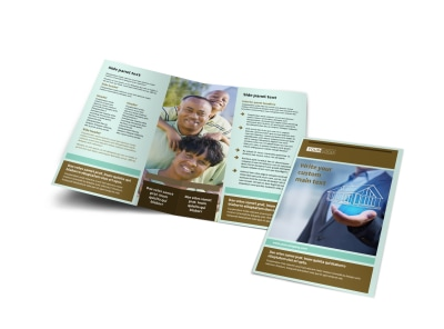 Home Insurance Bi-Fold Brochure Template