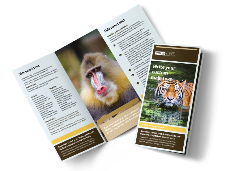 Zoo & Wild Animal Park Brochure Template Preview 4