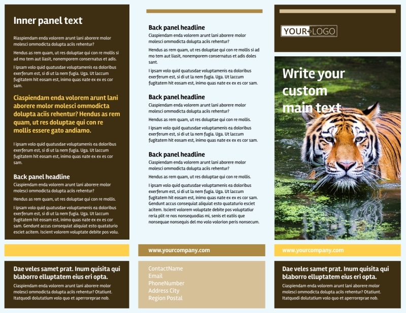 Zoo & Wild Animal Park Brochure Template Preview 2