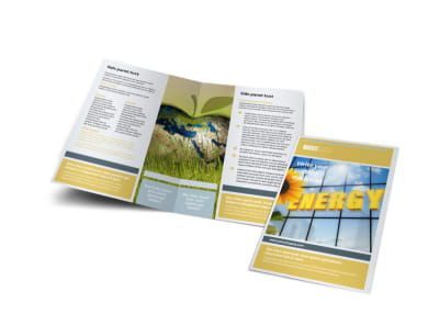 Clean Energy Consultants Bi-Fold Brochure Template preview