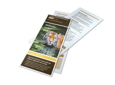 Zoo wild animal park brochure template mycreativeshop for Zoo brochure template