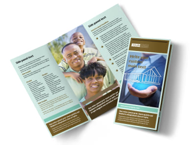 Home Insurance Tri-Fold Brochure Template