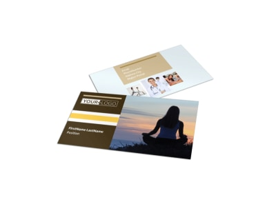 Women's Health Clinic Business Card Template preview