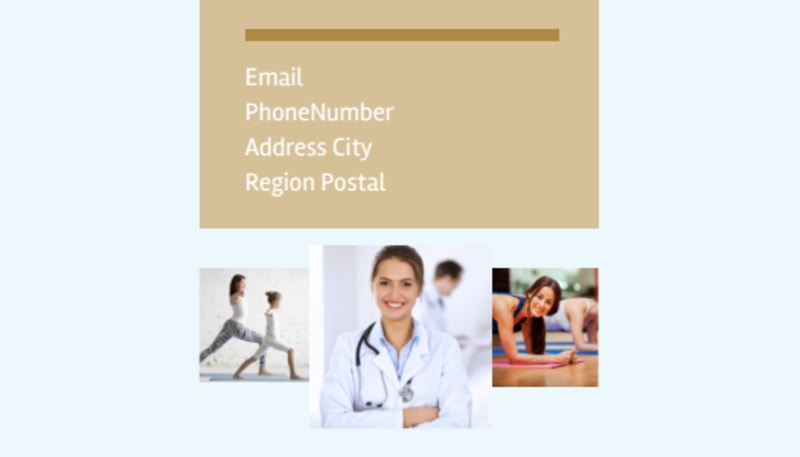 Womens Health Non Profit Business Card Template Preview 3