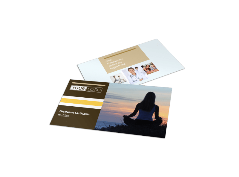 Womens Health Non Profit Business Card Template Preview 1