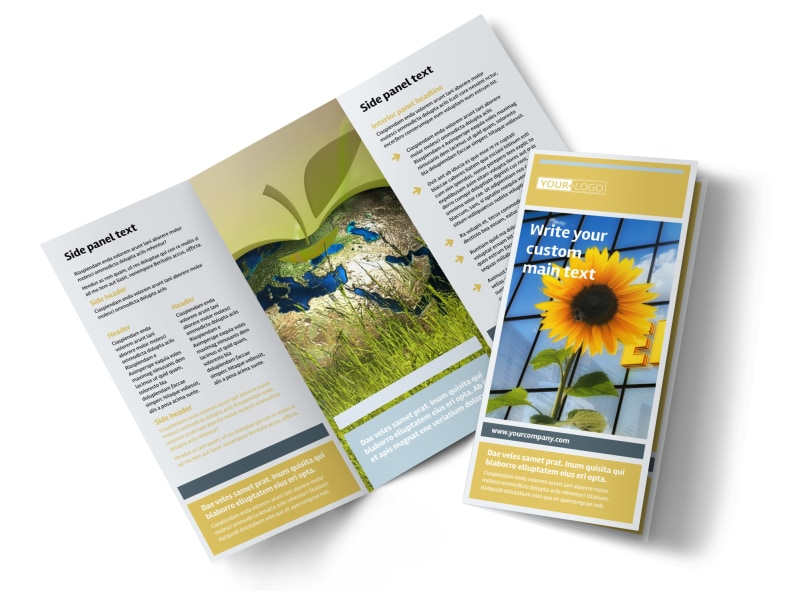 Clean Energy Consultants Brochure Template Preview 4