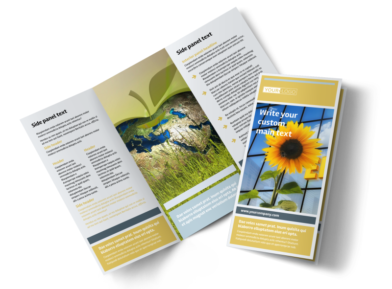 Clean Energy Consultants Brochure Template Preview 1