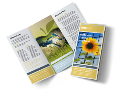 Clean Energy Consultants Tri-Fold Brochure Template preview