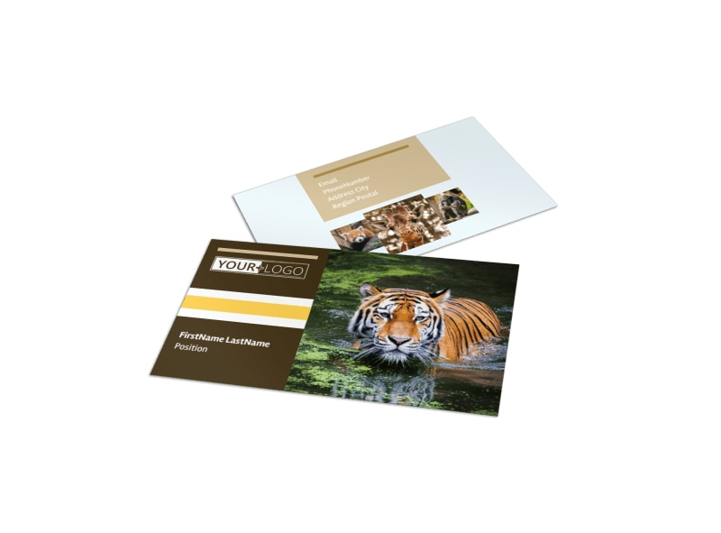 Zoo & Wild Animal Park Business Card Template Preview 4