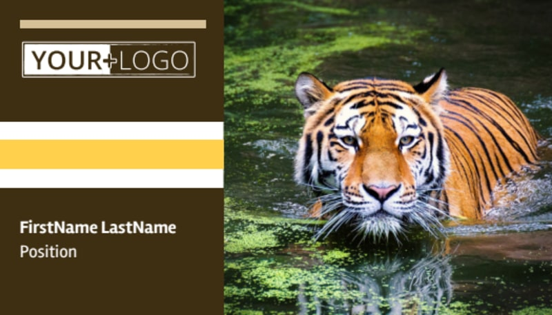 Zoo & Wild Animal Park Business Card Template Preview 2