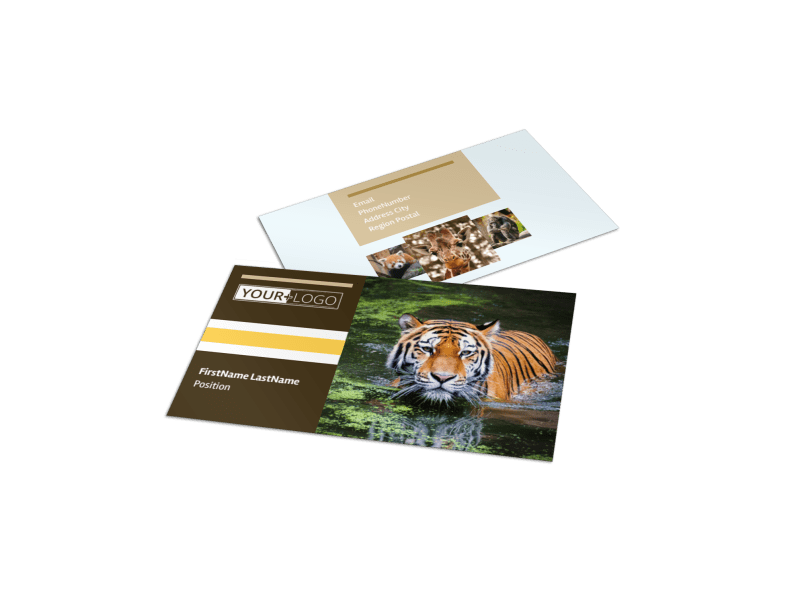 Zoo & Wild Animal Park Business Card Template Preview 1