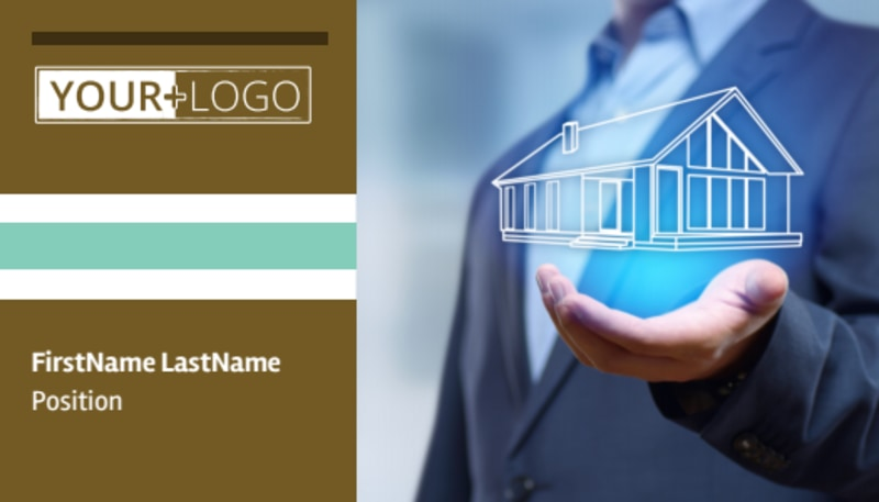 Home Insurance Business Card Template Preview 2