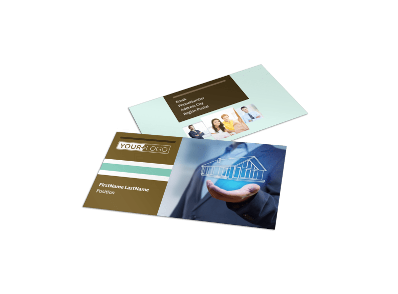 Home Insurance Business Card Template Preview 1