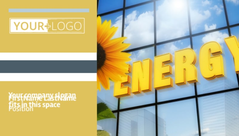 Clean Energy Consultants Business Card Template Preview 2