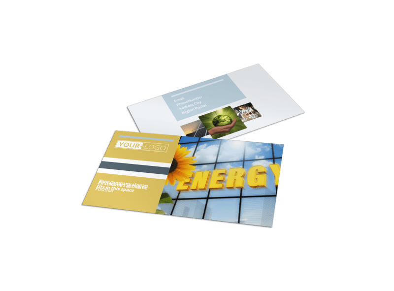 Clean Energy Consultants Business Card Template Preview 1