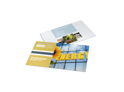 Clean Energy Consultants Business Card Template preview