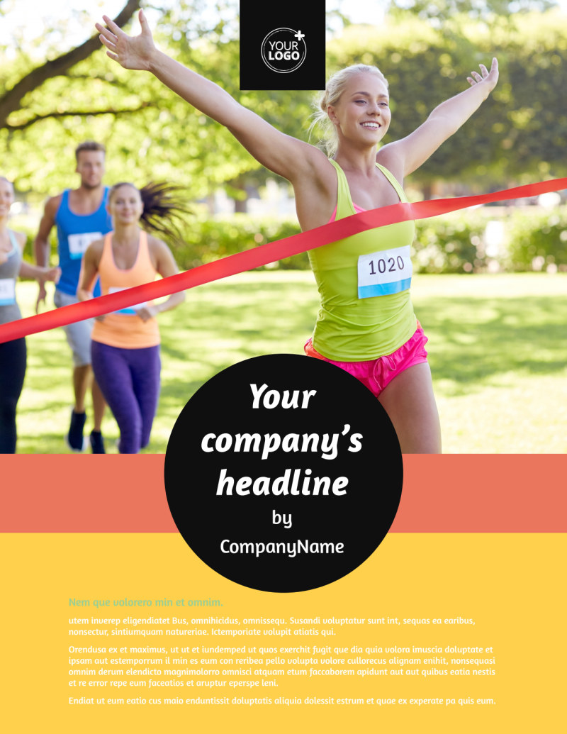 City Running Club Flyer Template Preview 2