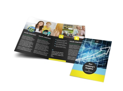 Investment Advisor Bi-Fold Brochure Template preview