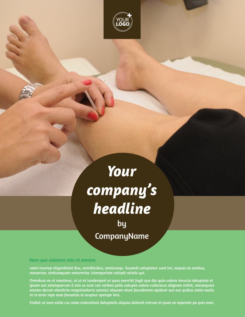 Acupuncture Clinic Flyer Template Preview 2