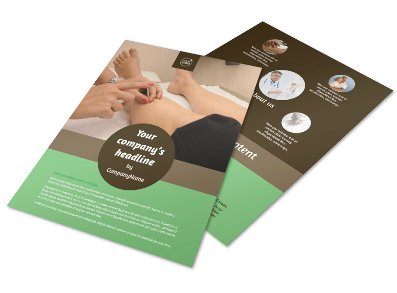 Acupuncture Clinic Flyer Template Preview 1