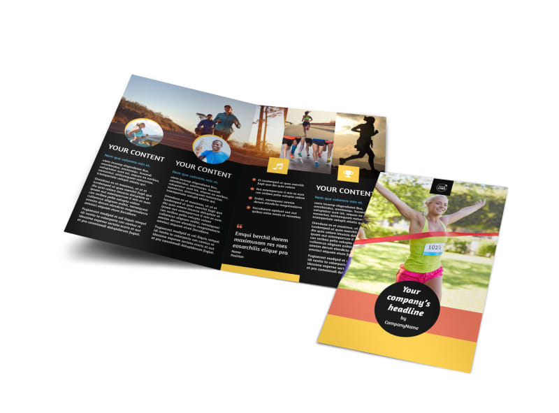 City Running Club Bi-Fold Brochure Template