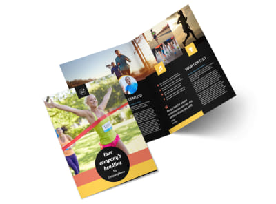 City Running Club Bi-Fold Brochure Template 2 preview