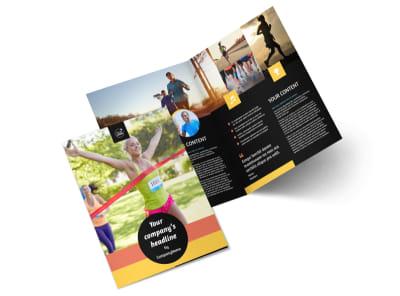 City Running Club Bi-Fold Brochure Template 2