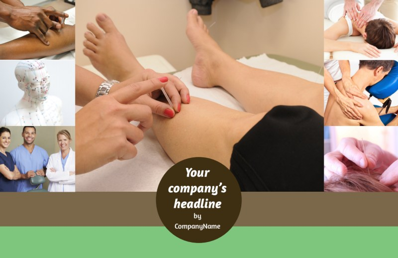 Acupuncture Clinic Postcard Template Preview 2