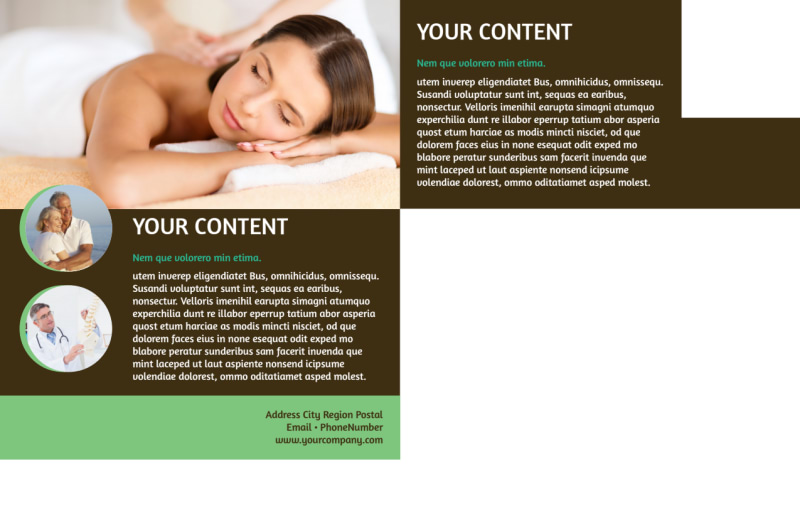 Acupuncture Clinic Postcard Template Preview 3