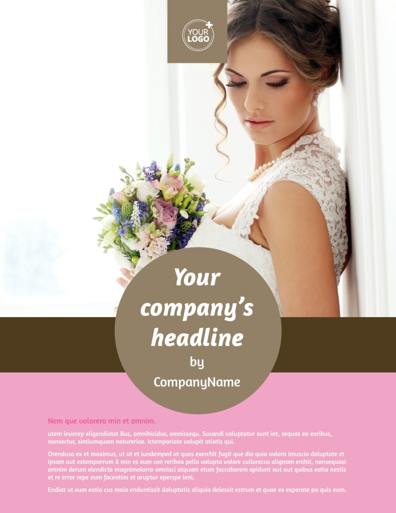 Wedding Florists Flyer Template Preview 2