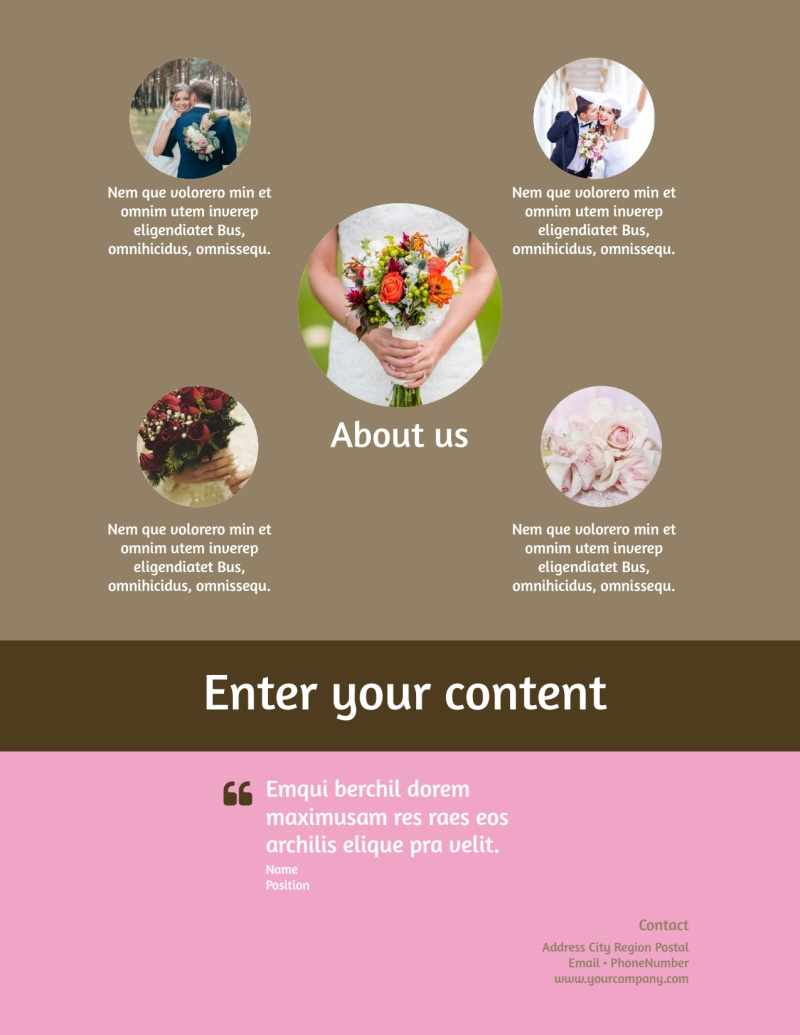 Wedding Florists Flyer Template Preview 3
