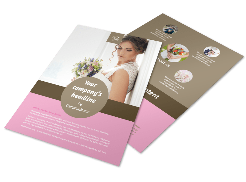 Wedding Florists Flyer Template Preview 1