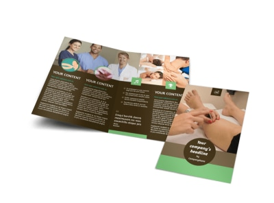 Acupuncture Clinic Bi-Fold Brochure Template